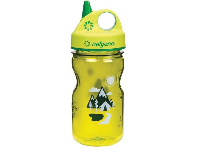 Nalgene Everyday Grip-n-Gulp Bottle 350ml Kids, yellow trail